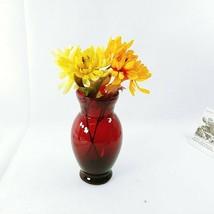 "Vase Anchor Hocking Royal Ruby Red 6.5"" Vintage - $15.80"