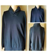 Michael Kors Men's Sweater Knit Pullover Collar Navy Blue Long Sleeve XXL - $31.95