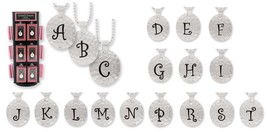 Hammered Monogram Initial Letter Alphabet Personalized Pendant Necklace - $6.98