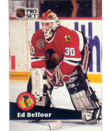 Ed Belfour ~ 1991-92 Pro Set #43 ~ Blackhawks - $0.05