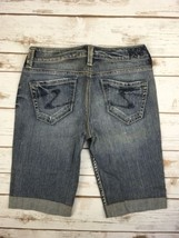 Silver J EAN S Shorts Buckle Mid Rise Lexi Cuffed Denim Jean Stretch Short 26 - $17.85