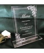 Wedding Menu,10pcs Acrylic Invitations,Custom 10pcs Acrylic Wedding Invi... - $32.00+