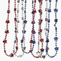 FX Metalic Patriotic Necklace (1 dozen) - Bulk - $8.79