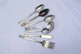 Prestige Grenoble Serving Pieces Lot of 7 Lot B Meat Fork Knife Spoons - $45.03