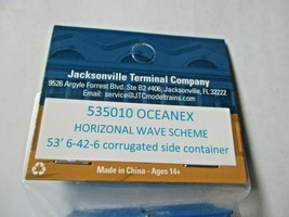 Jacksonville Terminal Company # 535010 Oceanex Wave Scheme 53' Container image 2