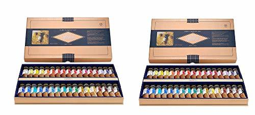 Mission MWC-1534P Gold Class Pure Pigment Watercolors Set 15ml 34 Colors (Count