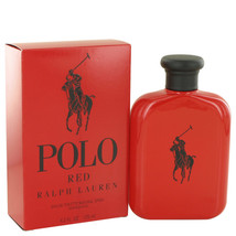Polo Red by Ralph Lauren Eau De Toilette Spray 4.2 oz for Men #501189 - $73.52