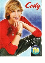 Cody Linley teen magazine pinup clipping brown watch squatting Hannah Montana