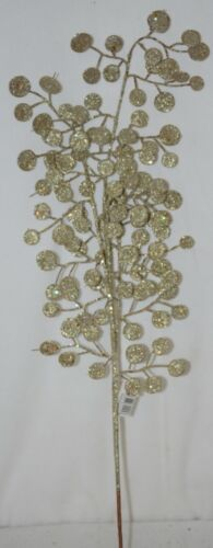 Unbranded Glittery Gold Decorative Disc Tree 29 Inches Spray