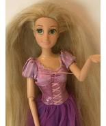 "Rapunzel Barbie Doll Articulated 12"" Posable Tangled Disney Parks Purple... - $17.99"