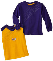 Boy's 8-20 Los Angeles Lakers Tip Off Tee Shirt 2-Piece Combo NBA Basketball NEW