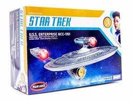 Polar Lights Star Trek Discovery USS Enterprise - 1/2500 Scale Snap Asse... - $40.92