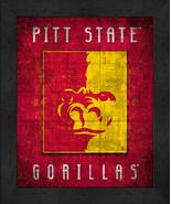 "Pitt State Gorillas ""Retro College Logo Map"" 13x16 Framed Print  - $39.95"