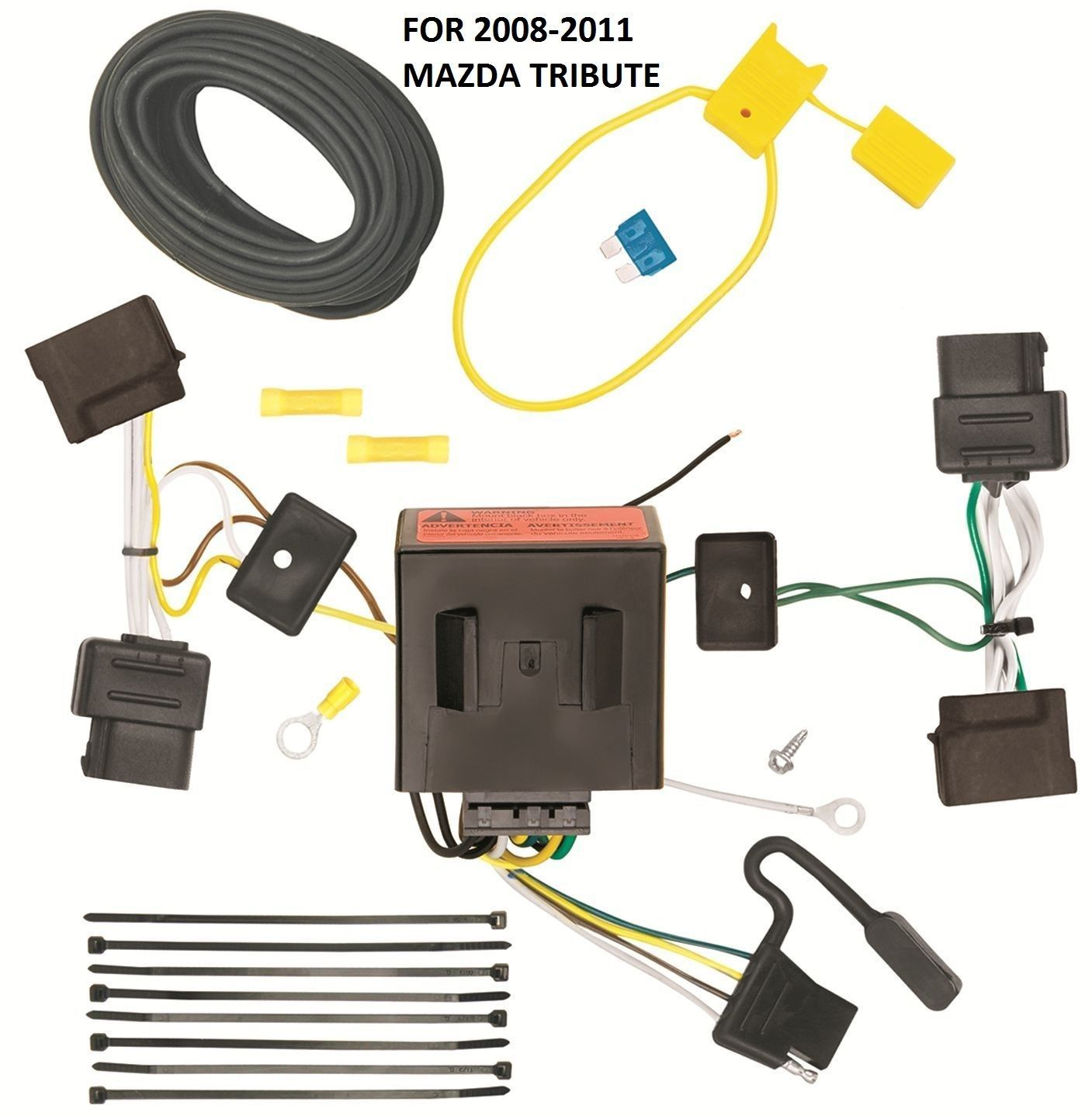 2008 2011 mazda tribute trailer hitch wiring kit harness. Black Bedroom Furniture Sets. Home Design Ideas