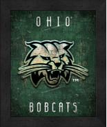 """Ohio Bobcats """"Retro College Logo Map"""" 13x16 Framed Print  - $39.95"""