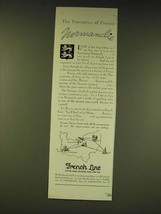 1936 French Line Cruise Ad - The provinces of France Normandie - $14.99