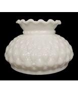 Milk Glass Student Lamp Shade White 6 in Diamon... - $29.95