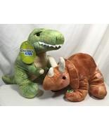 Discovery Kids Triceratops T-Rex Dinosaur Plush Stuffed Animals Sound Lo... - $19.99