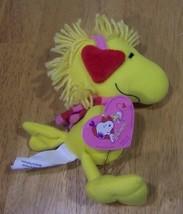 Peanuts VALENTINE WOODSTOCK W/ HEART EARMUFFS AND SCARF Plush STUFFED AN... - $14.85