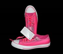 Converse Hot Neon Pink Lavender Tie Dye Stripes Shoes Wm 7 NEW Fun Summer Design - $54.99