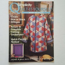 Simplicity Quilt It Yourself Baby Blocks Jacket Wall Quilt Placemats  - $4.94