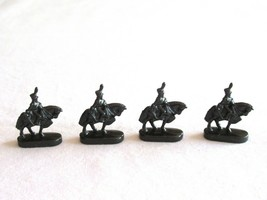 4x Risk 40th Anniversary Edition Board Game Metal Cavalry Soldier Black Army - $10.99