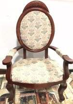 Vintage Dark Wood Chair French Style Kingstate The Doll crafter - $39.59