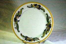 "Homer Laughlin Multi Color Leaf Scrolls Salad Plate 9"" - $3.77"
