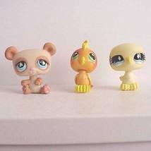 Littlest Pet Shop 2006 Cockatoo Bird 2007 Panda Bear 2007 Dove Bird - $13.00