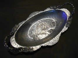Vintage Rodney Kent Hand Wrought Creations Tray Platter Aluminum Kitchen... - $9.99