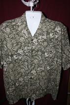 Bill Blass Size XL Short Sleeve Hawaiian Tropical Print Shirt 100% Cotton - $16.25