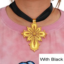 New Ethiopian Cross Pendant DIY Rope Chain for Women Girls African Cross... - $18.00