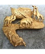 1985 Limited Edition Laura Gayle Noah's Ark Pin Brooch - $15.00
