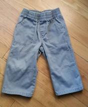 Toddler Pants Baby Boys 12 Month Gray Elastic Waist  - $0.99