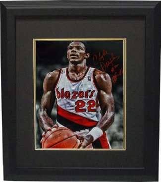 Primary image for Clyde Drexler signed Portland Trail Blazers 16x20 Photo Custom Framed HOF 04 (fo
