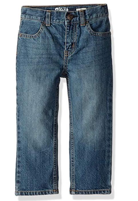 NEW OshKosh B'Gosh Boys' Classic Jeans Medium Faded Size 5 REG Adjustable Waist - $13.51