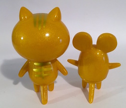 Baketan Gold Shimmer Cat and Mouse Set RARE and LIMITED Set image 2
