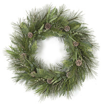"""36"""" Snow Covered Woodland Inspired Christmas Wreath - $159.95"""