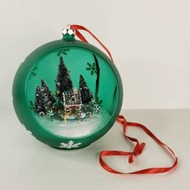 Mr Christmas Sparkling Scene Animated Music Box Ornament 2007 Watch Video - $39.99