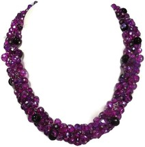 White House Black Market Fushia Cluster Bead Necklace  - $14.95