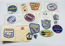 Lot Of 14 Vintage 1970s-80s WIBC Bowling Awards Patches Pins - $19.55
