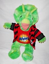 Build a Bear Triceratops Green Dinosaur Plush Stuffed Animal Dressed - $19.78