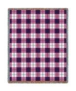 Boysenberry Plaid Throw - 70 x 53 Blanket/Throw - $64.95