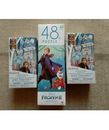 Disney Frozen II Puzzle and Decorate Your 6 Crystal Rings Set Bundle - $20.56