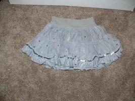 Gap Kids Silver Ruffles Tiers Tulle Skirt Size S 6-7 mm - $7.99