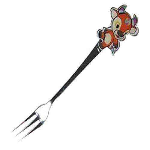 Panda Superstore 3 Pcs Cartoon Cow Children Stainless Tableware Cutlery Fork Fru