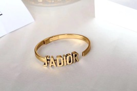 AUTH Christian Dior 2019 J'ADIOR AGED GOLD BRACELET CUFF BANGLE image 2