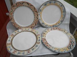 Sango Coffe Shoppe Dinner Plates 4 Mochaccino Java Espresso Cappuccino 3062 Lot - $38.70