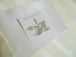 """Charter Club 1"""" Silver Tone Basketweave Hoop earrings H945 $34 - $13.70"""