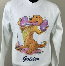 Vintage Golden Retriever Sweatshirt 1992 Dog Breed Crewneck USA Medium 90s - $29.99